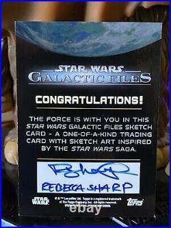 Topps Star Wars Artist Sketch Card 1/1 Jabba the Hutt by Rebecca Sharp