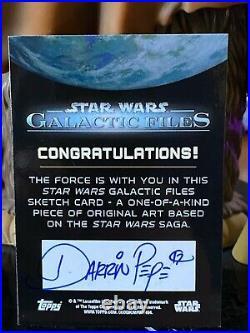Topps Star Wars Artist Sketch Card 1/1 Kylo Ren by Darrin Pepe