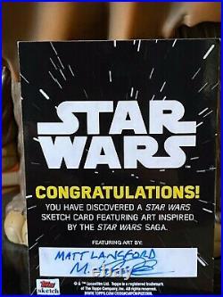 Topps Star Wars Artist Sketch Card 1/1 Kylo Ren by Matt Langford
