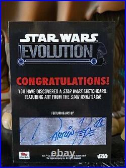 Topps Star Wars Artist Sketch Card 1/1 Luke Skywalker Darrin Pepe