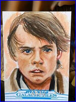Topps Star Wars Artist Sketch Card 1/1 Luke Skywalker Phil Hassawer