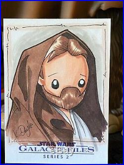 Topps Star Wars Artist Sketch Card 1/1 Obi-Wan Kenobi Kevin Doyle