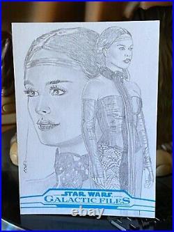 Topps Star Wars Artist Sketch Card 1/1 Padme Amidala Roy Cover
