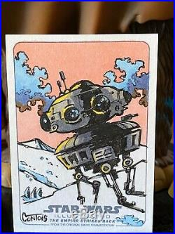 Topps Star Wars Artist Sketch Card 1/1 Probe Droid by Contois