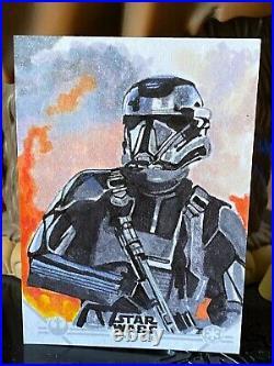 Topps Star Wars Artist Sketch Card 1/1 Shore Trooper Marcia Dye Rogue One