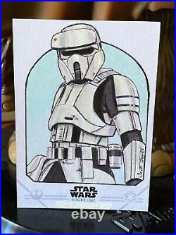 Topps Star Wars Artist Sketch Card 1/1 Shore Trooper Scott Jones Rogue One