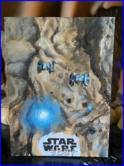 Topps Star Wars Artist Sketch Card 1/1 Tie Bombers by Ward Silverman