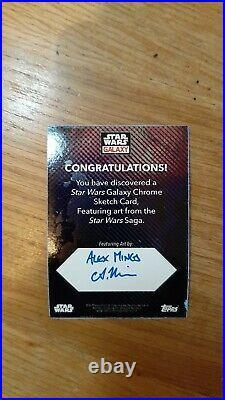 Topps Star Wars Galaxy 2021 Artist Return Sketch Card Mandalorian Alex Mines