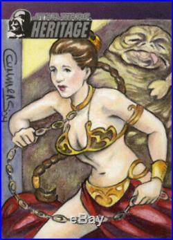 Topps Star Wars Heritage Cynthia Cummens Slave Leia Artist Sketch Card 1/1