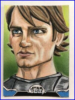 Topps Star Wars Holocron Series Anakin Skywalker Artist Sketch Card 1/1