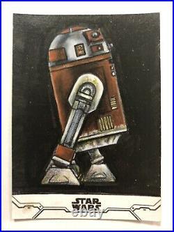Topps Star Wars Holocron Series R7-D4 Droid Artist Sketch Card 1/1