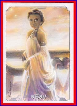 Topps Star Wars Masterwork Adrianna Vanderstelt Padme Artist Proof Sketch Card