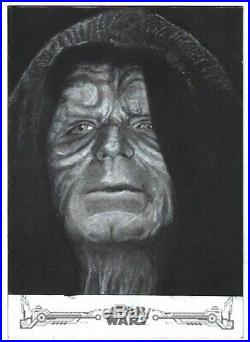 Topps Star Wars ROTJ B&W ARTIST RETURN Sketch Card, The Emperor by Steve Fuchs