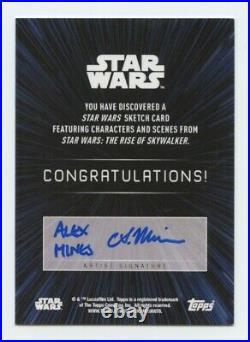 Topps Star Wars Rise Skywalker artist sketch card C-3PO by Alex Mines