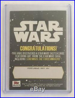 Topps Star Wars The Force Awakens Blank Sketch Card Unused Artist Proof