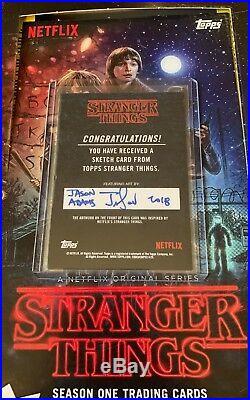 Topps Stranger Things Sketch Card Jason Adams Artist Eleven Millie Bobby Brown 1