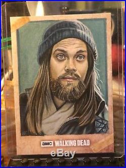 Topps The Walking Dead Artist Sketch Card 1/1 Jesus by Kris Penix