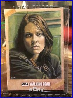 Topps The Walking Dead Artist Sketch Card 1/1 Maggie by Kris Penix