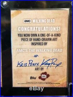 Topps The Walking Dead Artist Sketch Card 1/1 Michonne by Kris Penix