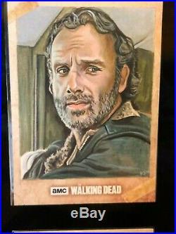 Topps The Walking Dead Artist Sketch Card 1/1 Rick by Kris Penix