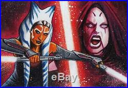 Topps Women of Star Wars Panoramic Sketch Card ARTIST PROOF by Frank Kadar