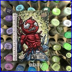 Upper Deck Marvel Black Panther Artist Proof Sketch Card AP Toxin Artist Fuzzy