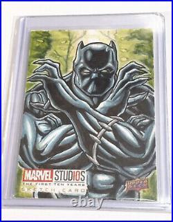Upper deck 2019 Marvel 10th Artist sketch card Black Panther