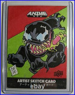 VENOM 2020 Marvel Anime Artist Sketch Card by Chris Foreman