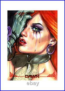 Veronica O'Connell DAWN 30th sketch card ARTIST PROOF AP 2020 Linsner Goddess