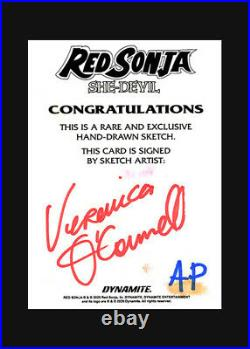 Veronica O'Connell RED SONJA SHE-DEVIL sketch card ARTIST PROOF AP 2020 Deluxe