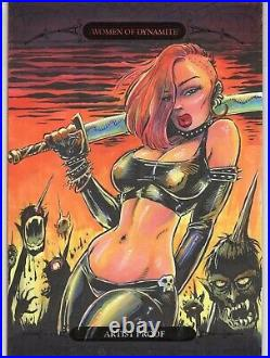 WOMEN OF DYNAMITE CHASTITY GEORGE WEBBER ARTIST PROOF 5x7 LARGE SKETCH CARD