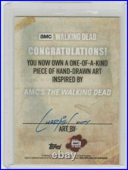 Walking Dead Season 6 Morgan Jones Sketch Card By Acclaimed Artist Charlie Cody