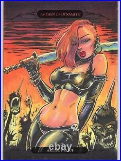 Women Of Dynamite Chastity GEORGE WEBBER ARTIST PROOF OVERSIZED 5x7 SKETCH CARD