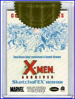 X-Men Archives 2009 Artist Sketch Trading Card 3 Case Incentive by Andy Price