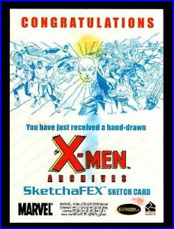 X-Men Archives 2009 Marvel Artist Sketch Trading Card 1/1