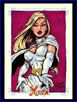 X-Men Archives 2009 Marvel Artist Sketch Trading Card 1/1 by Jeff Zugale