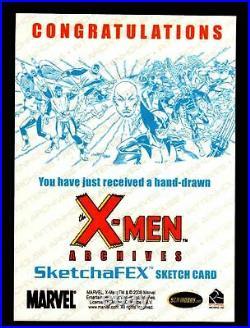 X-Men Archives 2009 Marvel Artist Sketch Trading Card 1/1 by Warren Martineck