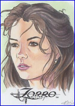 Zorro Artist Proof sketch card Kristin Allen art Catherine Zeta Jones 2